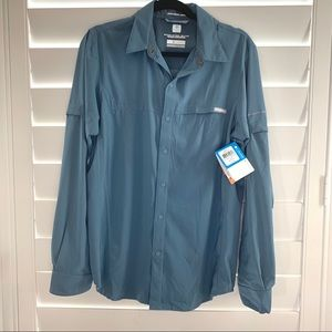 NWT Columbia men's small Omni wick button up shirt